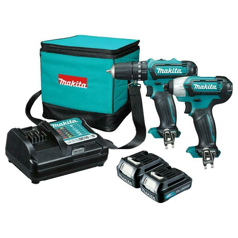 MAKITA Wireless impact driver kit and cordless drill-driver CLX202
