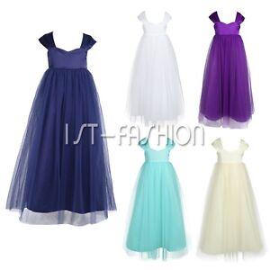 pretty nice 16e0d 9bf6c Details zu Mädchen Festliche Kleider Brautjungfern Hochzeit Blumenmädchen  Kleid Party Festz