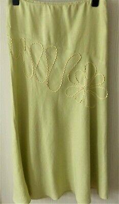 """""""offshoot"""" Lovely Soft Lime Verde Lino Camicia + Sul Davanti Taglia 12-mostra Il Titolo Originale"""