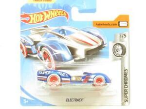 Hotwheels-electrack-Super-Chromes-Azul-Tarjeta-Corta-75-250-1-escala-64-Nuevo-Sellado
