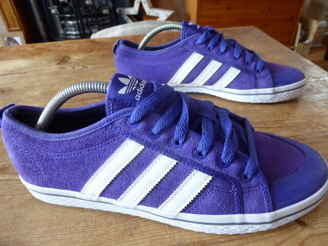 Womens purple suede ADIDAS honey stripes - size uk 9 ( 2013 ) great condition