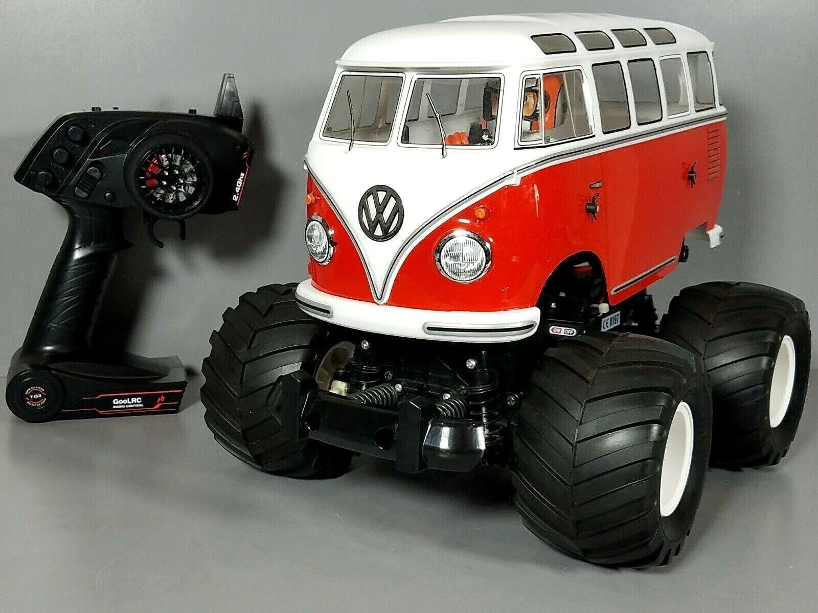 Used RC Tamiya  1 12 Volkswagen VW autoautobus Type 2 (T1) ruedaie 2.4GHz Remote Control  buona reputazione