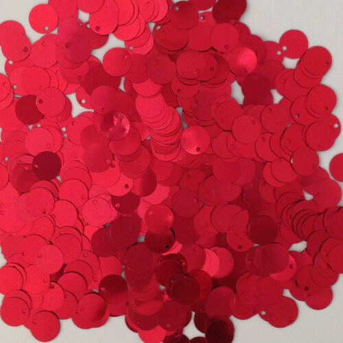 Sequins Red Paillettes Flat 10mm 225 pieces Loose