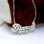 thumbnail 15 - Personalized FINE Sterling Silver 14K Gold ANY Name Plate Necklace + Free Chain