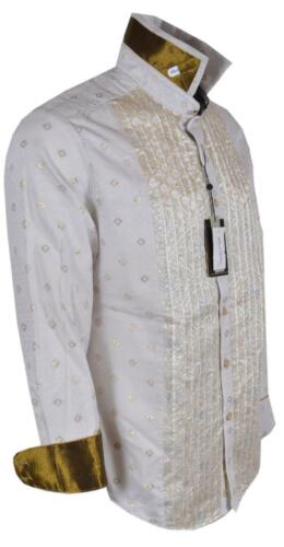 New Robert Graham $498 MOZART Embroidered Tuxedo Front Limited Edition Shirt