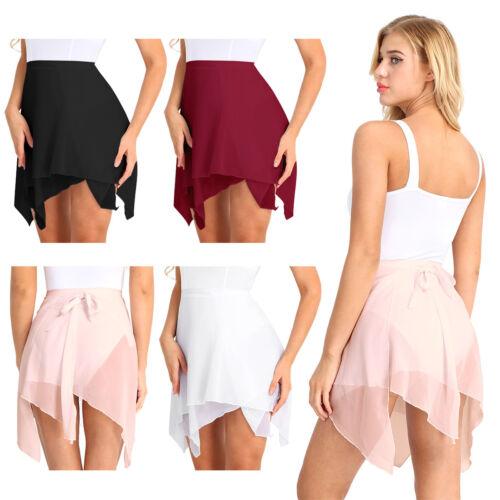 Adult Womens Girls Chiffon Dance Ballet Wrap Skirt Leotard Tutu Wrap Scarf Dress