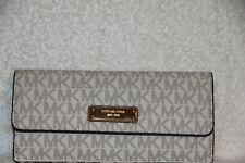 Michael Kors Vanilla Signature Flat Credit Card Snap Travel Wallet