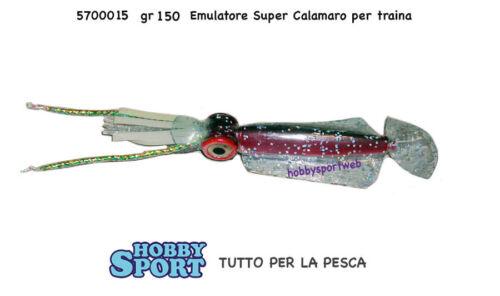 ARTIFICIALE TRAINA  EMULATORE SUPER SQUID ROSSO PINK  150 GR 5700015
