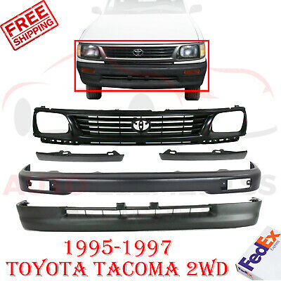 DAT AUTO PARTS Bumper Grille Filler Replacement for 95-96 Toyota Tacoma Black Front Right Passenger Side TO1089101
