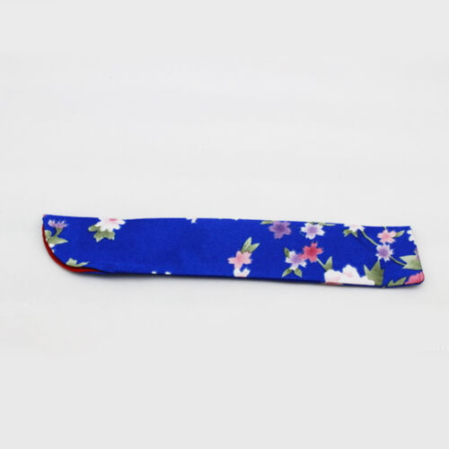 1x Silk Folding Chinese Hand Fans Bag Dustproof Holder Floral Printed Pouch Case