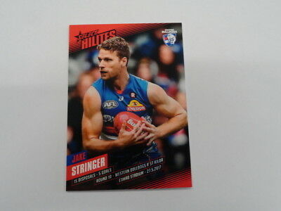 Australian Football Cards 2017 Afl Select Hilites Card Sh10 Jake Stringer Western Bulldogs 154/349 A Great Variety Of Goods Sports Trading Cards