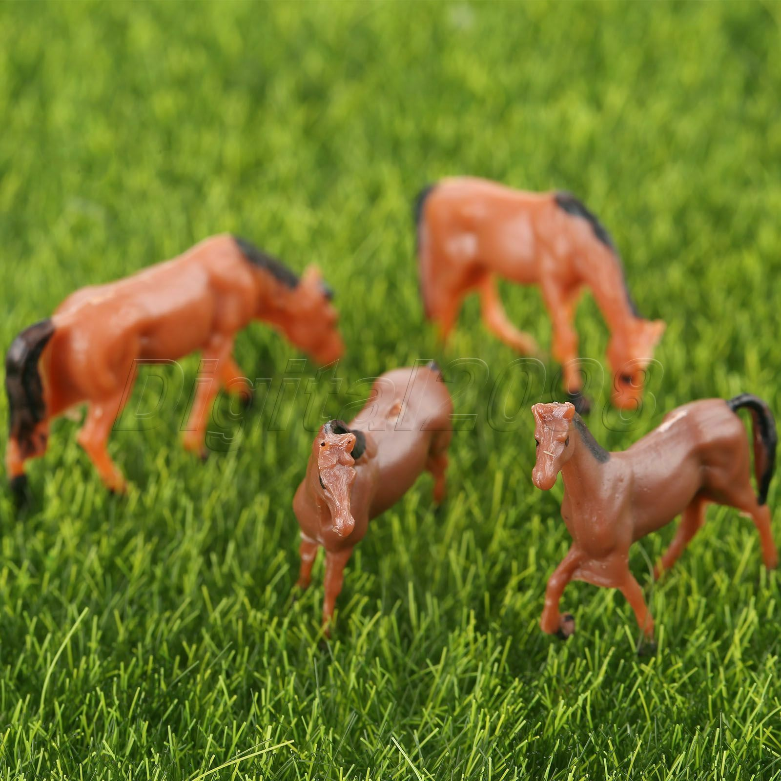 10x Model Horse Farm Animals For Train Scenery Diorama Diy 1 87 Scale Painted For Sale Online Ebay