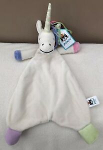 NEW-Jellycat-Lollopylou-Unicorn-Comforter-Soother-Baby-Ribbons-Soft-Toy-BNWT