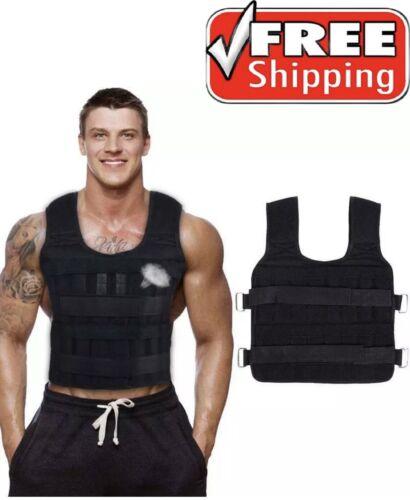 30KG Loading Weight Vest Boxing Train Gym Equipmet Fitness Adjustable Waistcoat