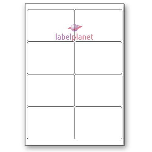 8 Per Page White A4 Matt Self-Adhesive Freezer//Frozen Food Labels Label Planet®