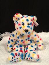 TY beanie BUDDY~ ORIGINAL ~ RETIRED ~TEDDY  ~ TY 2K confetti bear ~NWMT ~ MINT