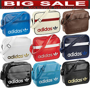 6f7b6320ae19 Image is loading Adidas-Airliner-Bag-100-Authentic-Messenger-Backpack-Duffel -
