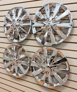 NEW-16-034-CHROME-Hubcap-Wheelcover-SET-that-FITS-2013-2019-NISSAN-SENTRA