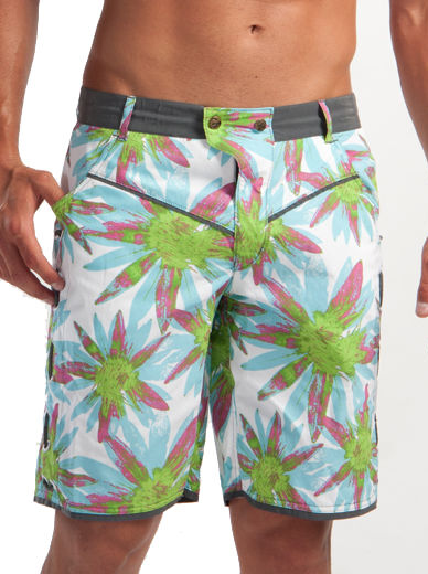 Geronimo Mens Luxury Board Floral Shorts Flowered Summer