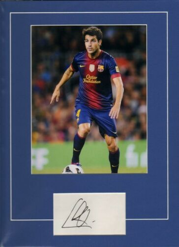 Signed Cesc Fabregas Signed Mounted Card + Photo Barcelona Spain Arsenal