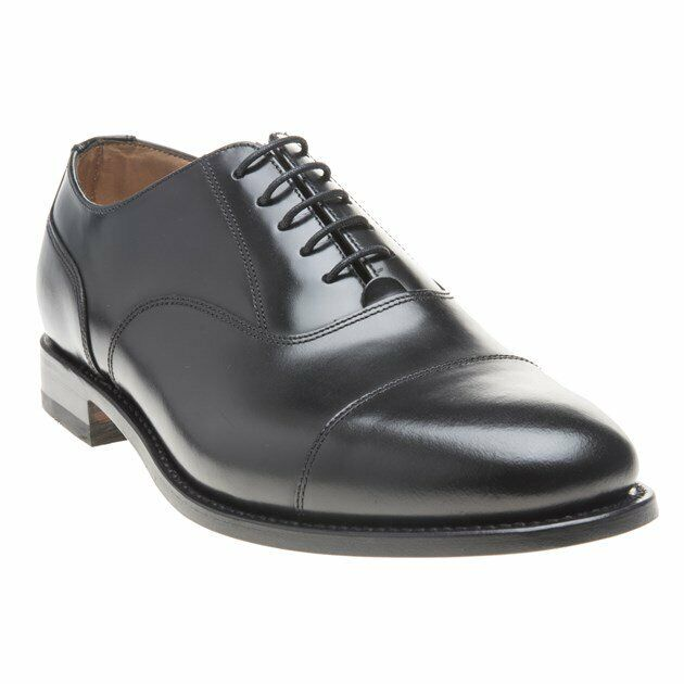 New Mens Loake Black 200b Leather Shoes