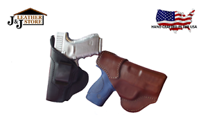 J/&J RUGER LC9S IWB IN-WAISTBAND FORMED PREMIUM LEATHER HOLSTER