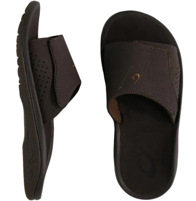 OluKai Mens Sandals Nalu Slide Dark
