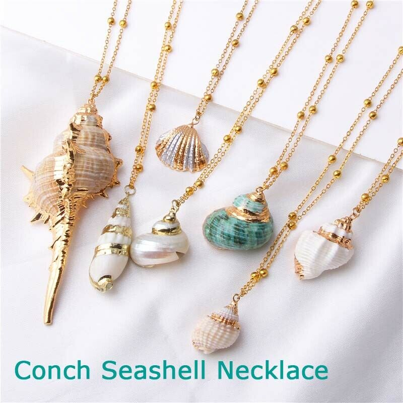 Trendy Lady Natural Shell Collier Coquillage Pendentif Collier Tour de cou Beach Jewelry