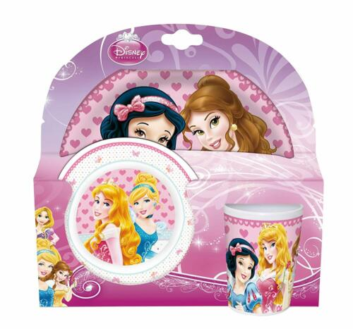 Disney Princess Kindergeschirr Melamin Teller Schüssel Tasse Frühstück