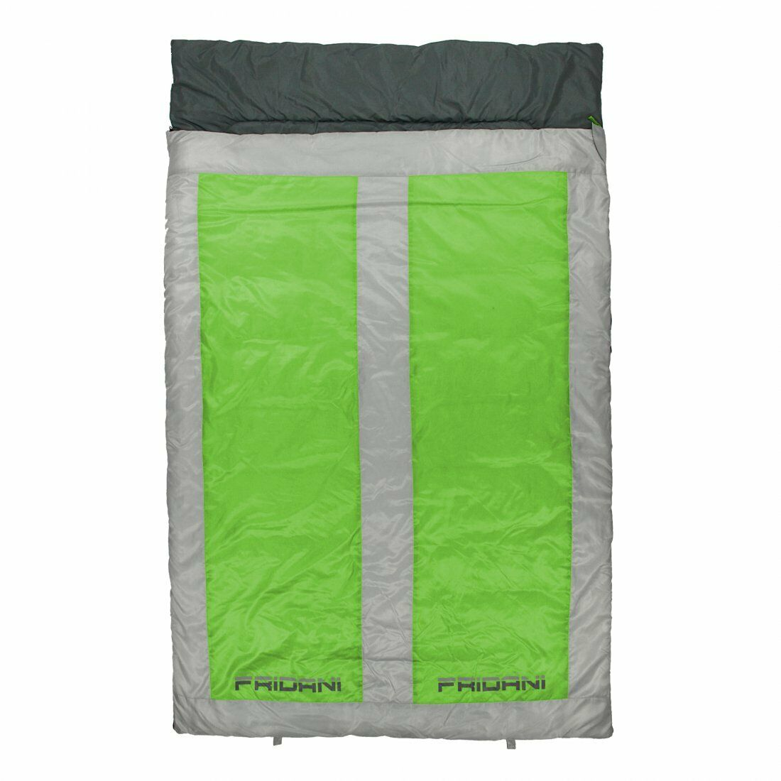 2 person Sleeping Bag QG 225x140 Double Blanket Green -22°C warm & soft