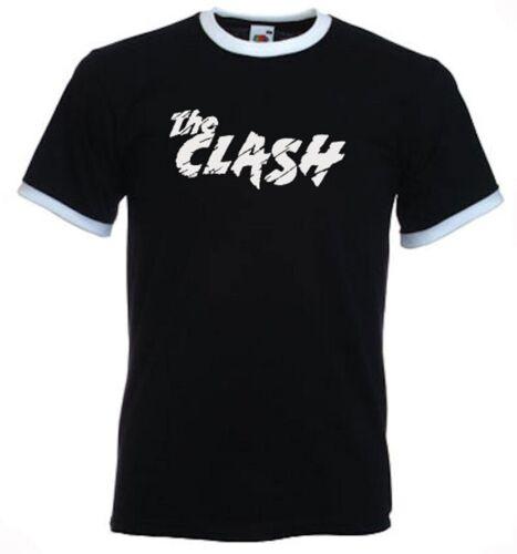 Punk Mens Ringer Tees Slim Fit retro 70s 80s Clash