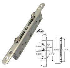 "STB Sliding Glass Patio Door Lock, Mortise Type, 2-Point, 7-51/64"" Screw Holes"