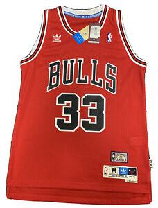 New 1995-96 Scottie Pippen Medium Mens Chicago Bulls Swingman Red ...