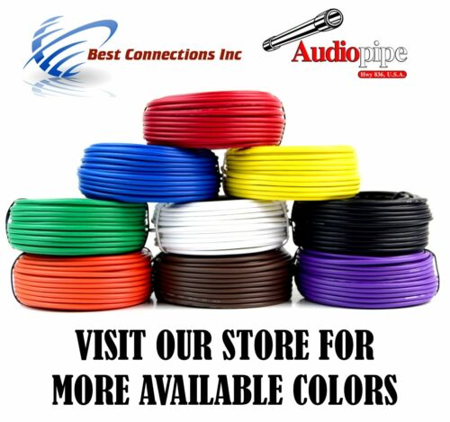 14 GA 50/' Feet Blue Audiopipe Car Audio Home Remote Primary Cable Wire