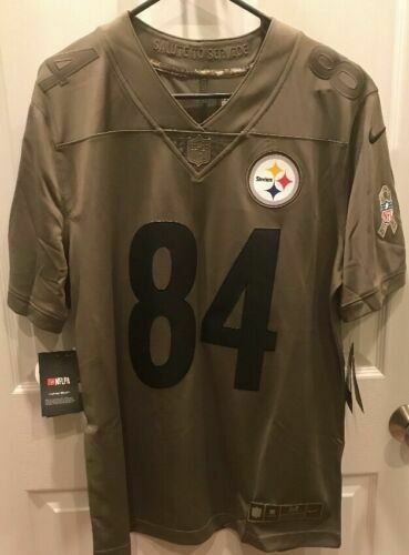 separation shoes b25dc 54b88 Nike Pittsburgh Steelers Antonio Brown Salute to Service Jersey Mens Medium  for sale online | eBay