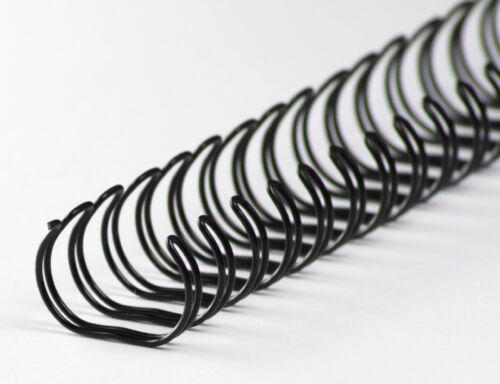3//8 Zoll 3:1 Teilung schwarz Drahtbinderücken 34 Ringe 9,5mm