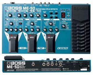 Consciencieux Boss Me-50 Guitar Multi Effects Pédale Processeur & Power Supply-afficher Le Titre D'origine Emballage De Marque NomméE