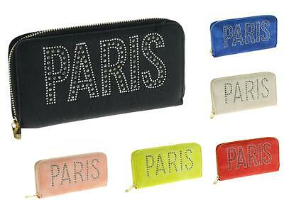 XXL Damenbörse Geldbörse Brieftasche Portemonnaie Börse 20 X11 cm Paris Strass
