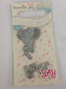 Dovecraft Cupcake and Happy Birthday Sentiment Metal Cutting Die