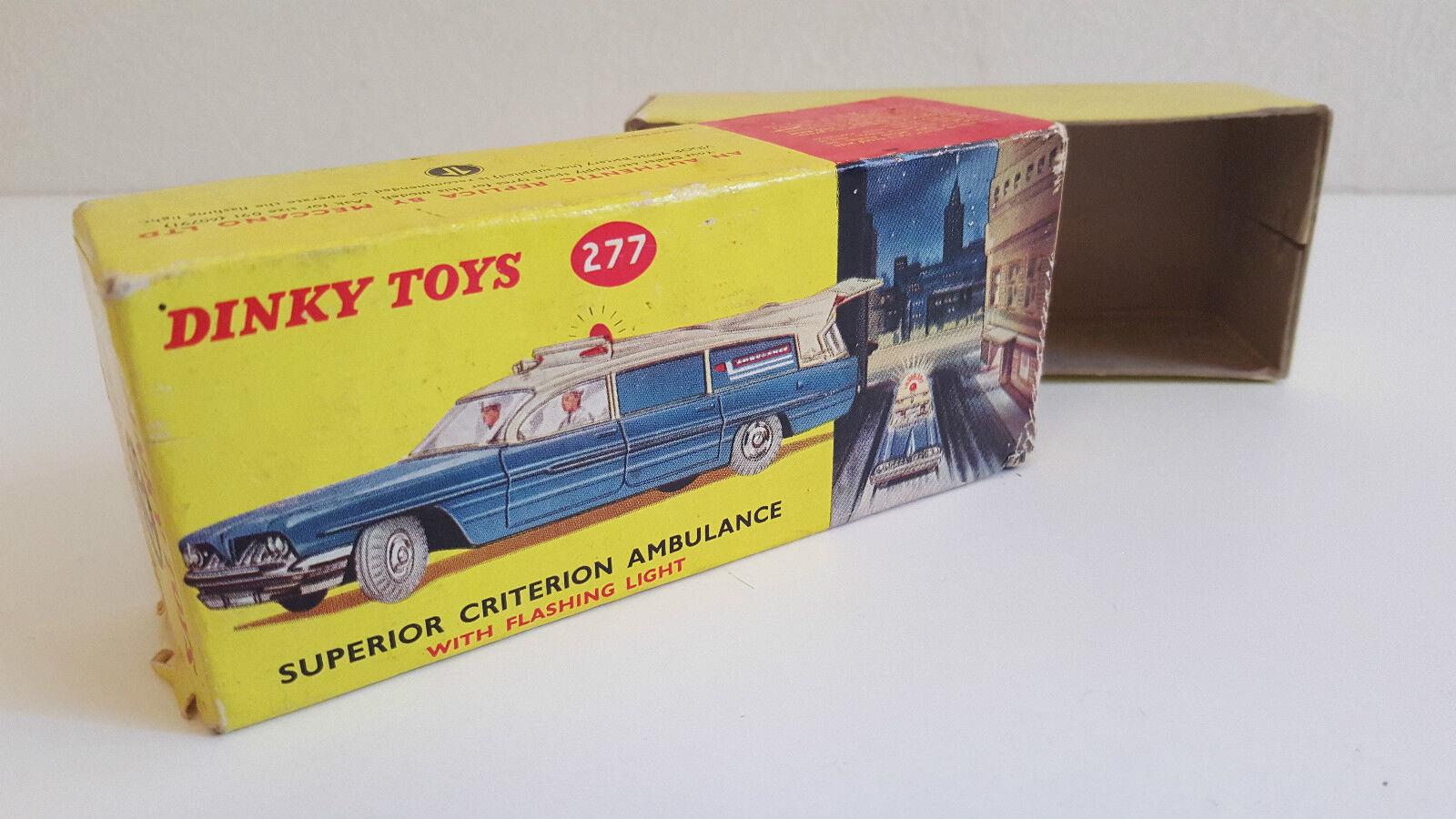Dinky Toys - 277 - Boîte d'origine SEULE de l'ambulance Superior Criterion