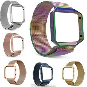 Milanese-Stainless-Steel-Magnetic-Loop-Wrist-Band-Strap-Frame-For-Fitbit-Blaze
