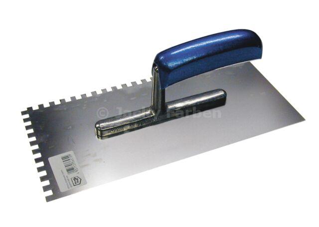 Fliesen Zahnkelle Holzgriff 10x10mm PA1 Glätter Edelstahl rostfrei Zahnspachtel