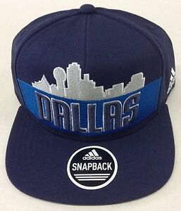 7117138ee67c3 NBA Dallas Mavericks Adidas Skyline Snap Back Cap Hat Beanie Style ...