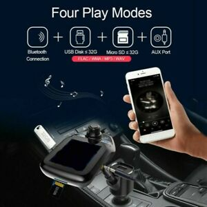 Bluetooth FM Transmitter Auto Radio MP3 Player QC 3.0 Adapter Dual USB Ladegerät