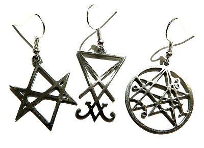 Nocturnal Lucifer Earrings moon sigil luciferian gothic occult