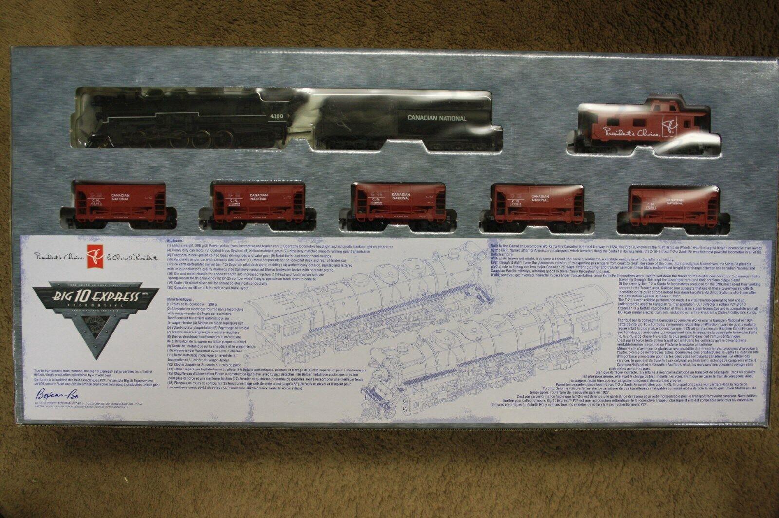 El presidente's Choice 2-10-2 Grande 10 Express Tipo de Santa Fe Locomotora cn Ho 1 87