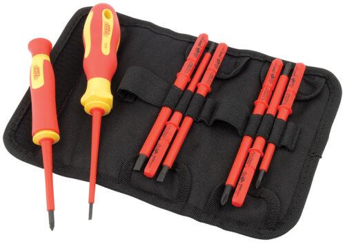 5721 DRAPER Ergo Plus VDE Screwdriver Set with Interchangeable Blades 10 Piece