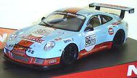 Ninco 50488 Porsche 997 Gulf 1/32 Slot Car In Display Case