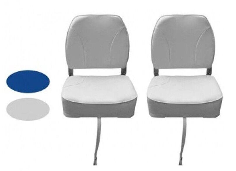 Pair Voding Deluxe Lage Back Vouw laars Seat 3 Kleur grijs blauw wit