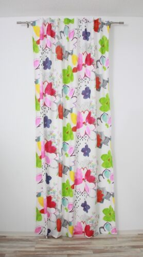 Schlaufenschal 135 x 245 cm modern art BlumenSchlaufenvorhang » hochwertig
